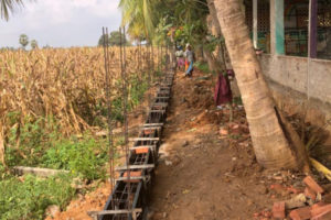 Boundary Wall Construction Begins