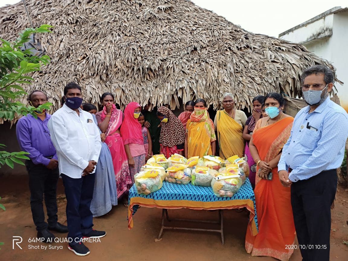Distribution of Groceries and Rice